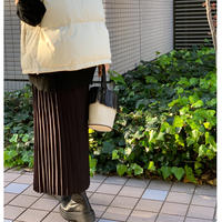 プリーツニットスカート (ブラック)