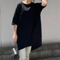 ドルマンビックロングtシャツ(ブラック)
