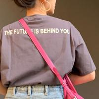 フロントバックフロッキーロゴ tシャツ(チャコール)