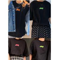 バレンシアガパロディー刺繍 tシャツ(ブラック)