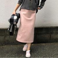スウェードライクタイトスカート(ピンク)