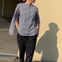 袖スリットシャツ(ブラック)