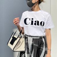 フロッキーCiao ロゴ tシャツ(ホワイト)
