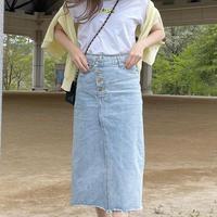 ラップデニムデザインスカート(Sサイズ)