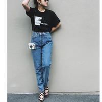 ユニセックスパロディー tシャツ(new baLENCIAGA)ブラック
