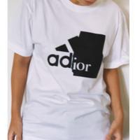 ユニセックスパロディー tシャツ(adior)ホワイト