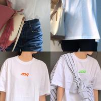 バレンシアガパロディー刺繍 tシャツ(ホワイト)