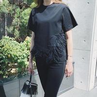 2wayフェザーtシャツ(ブラック)