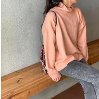 タートル裾スリットニット(ピンク)