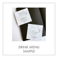 [ SAMPLE ] DRINK MENU