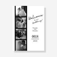 【A2/A3】ウェルカムボード[Film] 選べる4デザイン パネル印刷は+¥2,000-