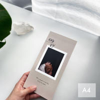 【 3つ折り席次表 KUMO 】A4サイズ / カラー  / 30部~