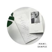 【SAMPLE】 3つ折り席次表 NAMI