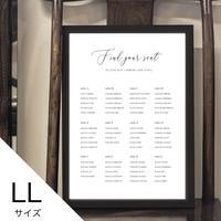 【シーティングチャートポスター】9種類 [LL]  A1サイズ /  パネル印刷+¥2,000