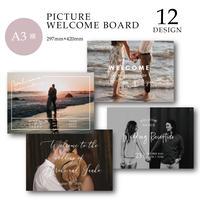 [A3 横] WELCOME BOARD / PICTURE / 12 design