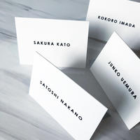 NAME CARD WHITE /  8 design