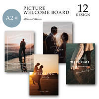 [A2 縦] WELCOME BOARD / PICTURE / 12 design