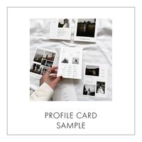 [ SAMPLE ] PROFILE CARD