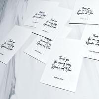 THANKS CARD / 名刺サイズ / 白 / 黒