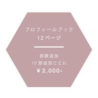 【 部数追加 】2,000円 / プロフィールブック12ページ
