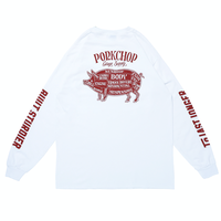 PORKCHOP - PORK BACK L/S TEE (WHITE)