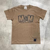 M&M - PRINT S/S TEE MT-018 (D.CAMEL)