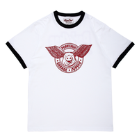 PORKCHOP - WING PORK RINGER TEE(WHITE×RED)
