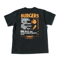 COOKMAN - T-shirts「Burgers menu」
