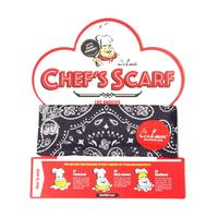COOKMAN - Chef's Scarf 「Paisley」 Black