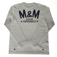 M&M -PRINT L/S T-SHIRT 21-MT-027 (M.GRAY)
