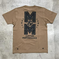 M&M - PRINT S/S TEE MT-023 (D.CAMEL)