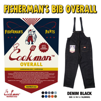 COOKMAN - Fisherman's Bib Overall 「Denim」 Black
