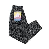 COOKMAN - Chef Pants 「Paisley」 Black
