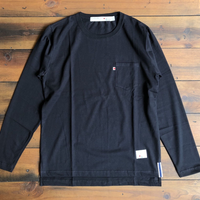 BLUE SAKURA -STEP LONG SLEEVE T-SHIRT 【ブラック】