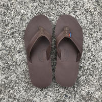 "RAINBOW SANDALS - Premier Leather ""Double Midsole"" (MOCH モカ)"