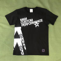 M&M - PRINT S/S TEE 21-MT-011 (BLACK)