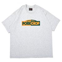PORKCHOP GARAGE SUPPLY - BLOCK LOGO TEE (GRAY)