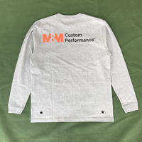 M&M - PRINT L/S TEE 21-MT-005 (M.GRAY)