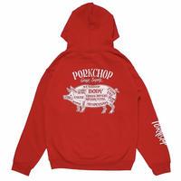 PORKCHOP - PORK BACK HOODIE (RED)