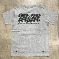 M&M - PRINT S/S TEE MT-022 (M.GRAY)