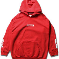 LIBERAIDERS - LOGO PULLOVER HOODIE (レッド)