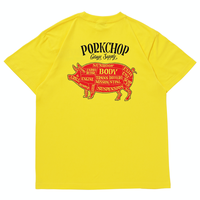 PORKCHOP - PORK BACK S/S TEE (YELLOW)