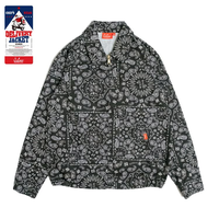 COOKMAN - Delivery Jacket 「Paisley」 Black