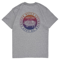 PORKCHOP - CIRCLE PORK BACK TEE/GRAY
