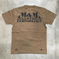 M&M - PRINT S/S TEE MT-020 (D.CAMEL)