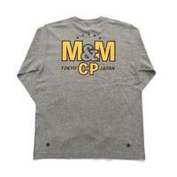 M&M -PRINT L/S T-SHIRT 21-MT-025 (M.GRAY)