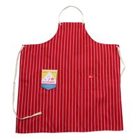 COOK MAN - Long Apron 「Stripe」 Red
