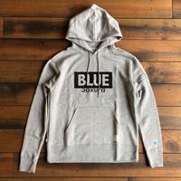 """BLUE SAKURA - CLASSIC VINTAGE HOODIE """"LOGO B""""【グレー】 / BS-SWP02-GR"""