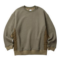 LIBERAIDERS - SIDE QUILTED SWEATSHIRT (オリーブ)