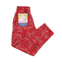 COOKMAN - Chef Pants 「Paisley」 RED